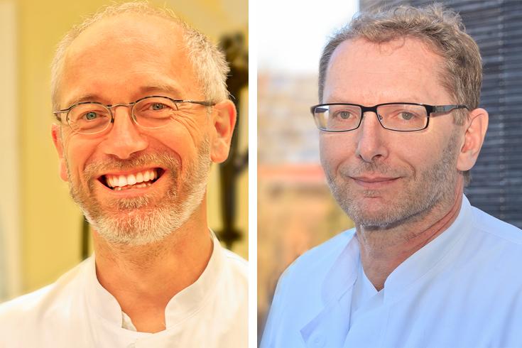 Die beiden Chefärzte der Abteilung Innere Medizin am Krankenhaus Wegscheid: Dr. med. Willibald Prügl und Johann Kienböck. (Fotos: F. Richter)