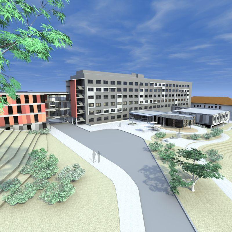 Krankenhaus Rotthalmünster: 3D-Entwurf