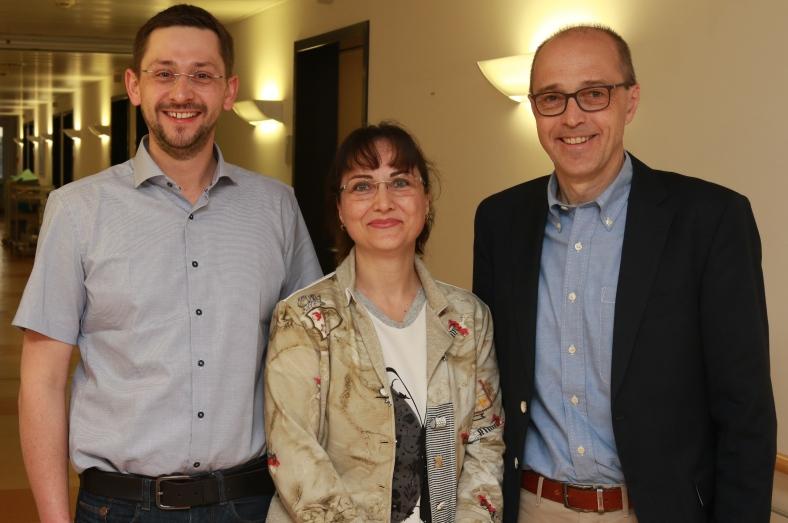 Operieren am Krankenhaus Rotthalmünster (v.l.): Die Gynäkologen Dr. med. Florian Degenhart, Antoinette Hirner und Dr. med. Detlev Werner.