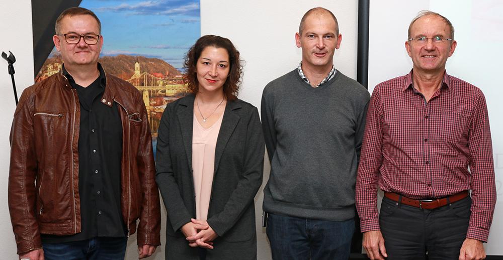Organisator Roland Gibis (2.v.r.) mit den Referenten (v.l.) Dr. Ulrich Resch, Dr. Julia Wick und Walter Haslinger.