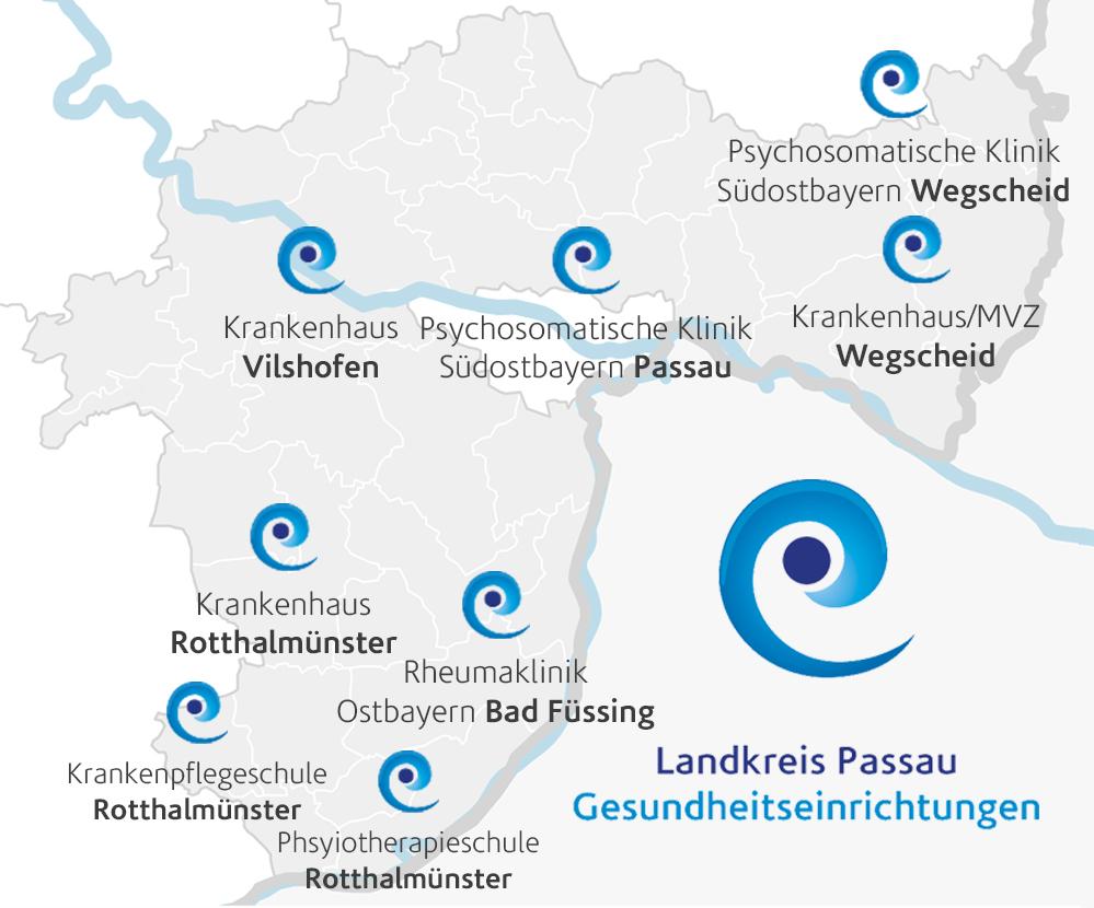 Übersicht unserer Kliniken im Landkreis Passau