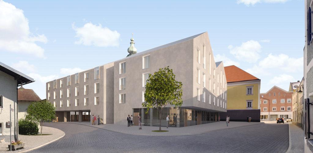 Leben in Rotthalmünster: Die neue Wohnanlage für die KrankenpflegeschülerInnen im Ortszentrum.