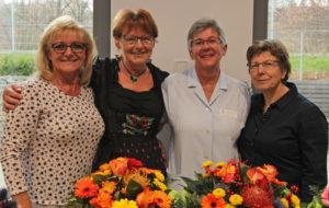Feierten Jubiläum und Abschied im Bereich Hauswirtschaft (v.l.): Marlene Hillebrand, Margarete Demmelbauer, Gabriele Aigner und Theresia Plattner.
