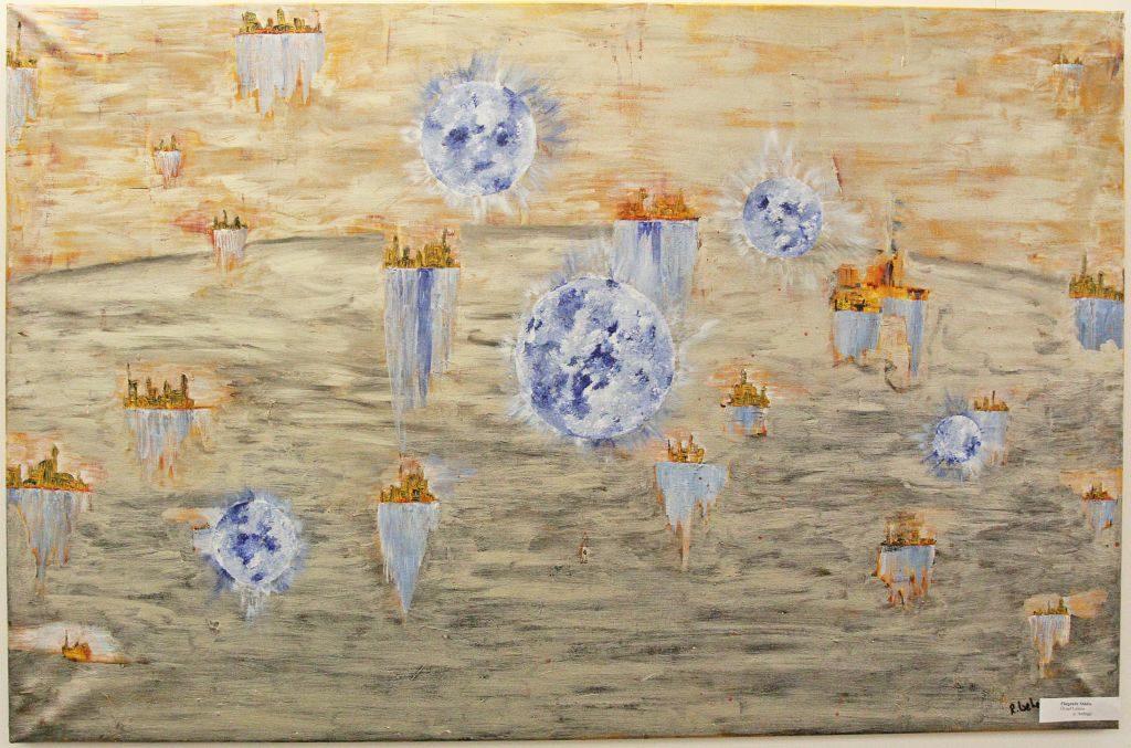 Ein Kunstwerk von Robert Weber: Fliegende Städte