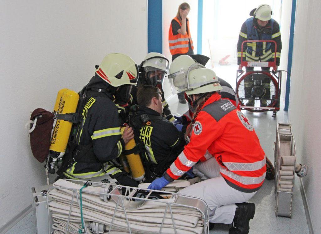 Sichtungsübung-Vilshofener Notfalltag